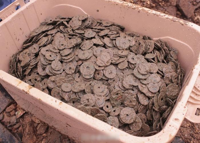 古钱币最早的为南宋时期,距今已有近千年历史。