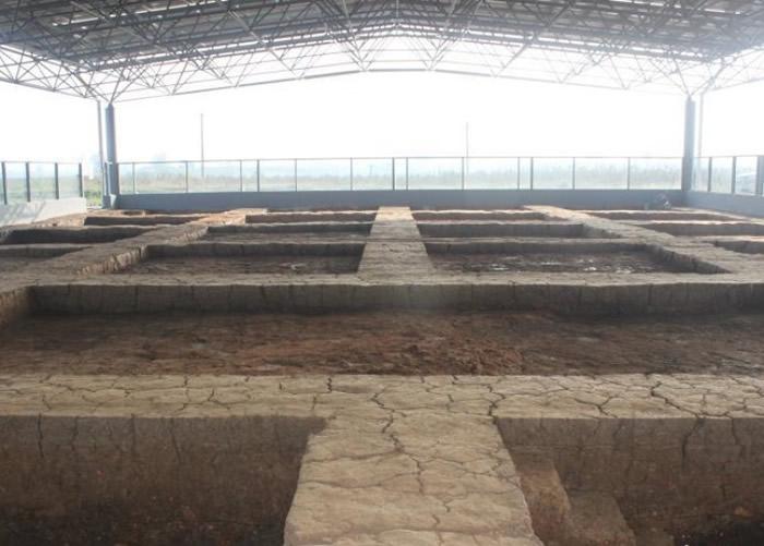 考古发掘现场。