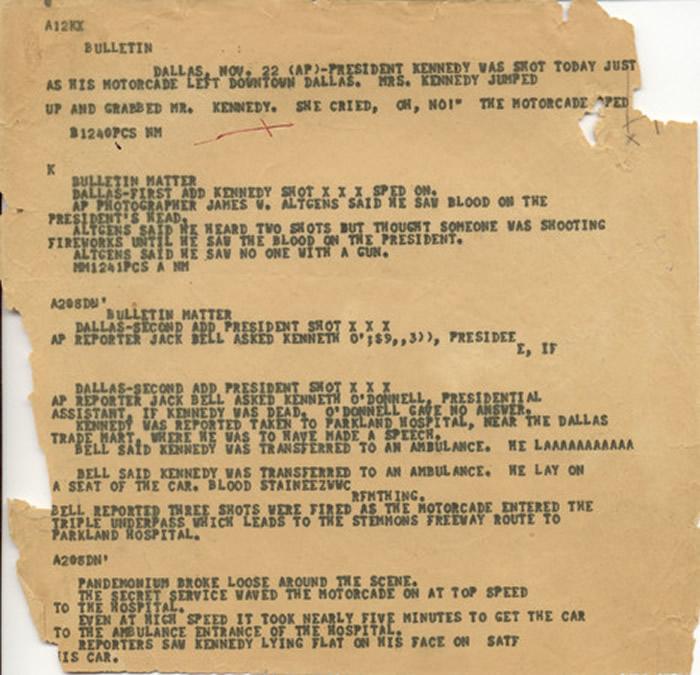 美国政府日前公开「肯尼迪遇刺事件」机密档案。