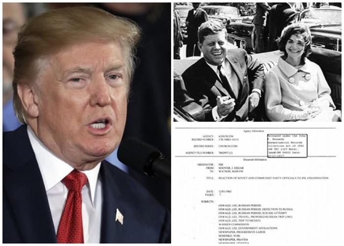 特朗普(左图)答允公开大量肯尼迪遇刺案文件。