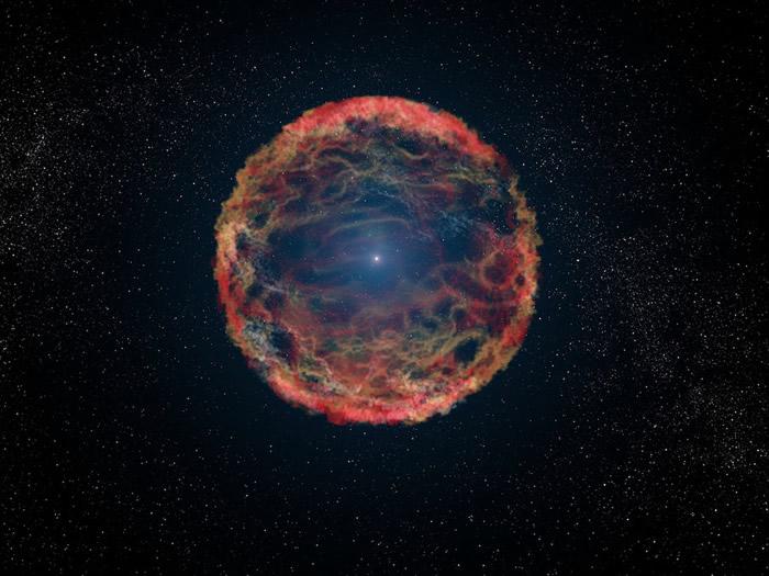 """不死顽强""""丧尸超新星iPTF14hls"""" 经历最少5次爆炸"""