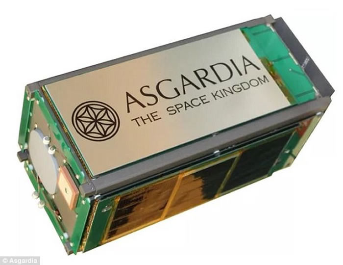 """第一个太空国家""""阿斯伽迪亚""""(Asgardia)在美国正式升空"""