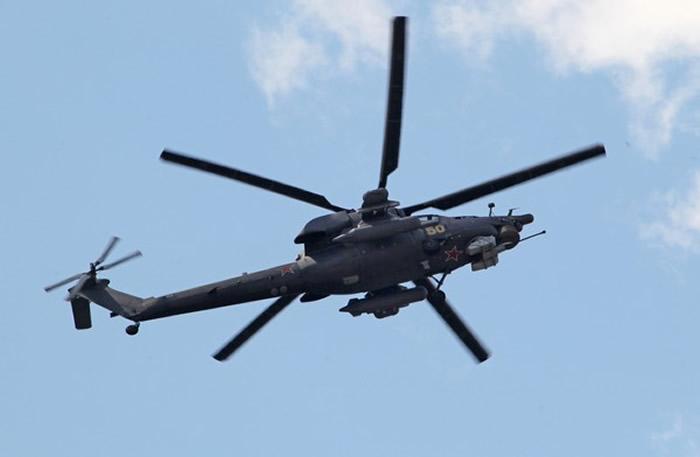 俄罗斯主力攻击直升机米-28N,它的最高时速仅有325公里。