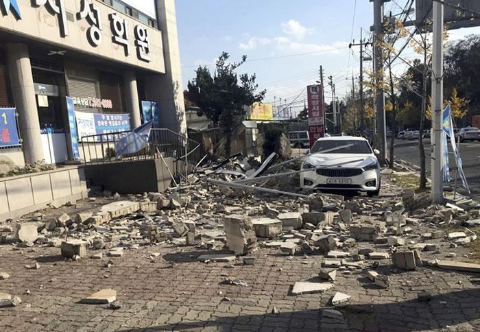 韩国庆尚北道浦项市北部发生芮氏规模5.4地震