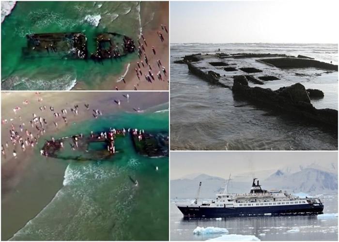 """美国加州海岸发现疑似鬼船""""柳博芙奥尔洛娃号"""" 实为30年代黑帮赌船"""