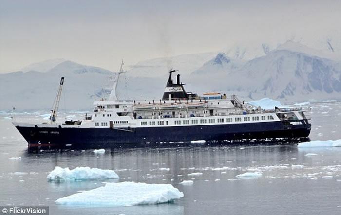 """一度认为该船是于7年前失踪、有鬼船之称的俄罗斯邮轮""""柳博芙奥尔洛娃号"""""""