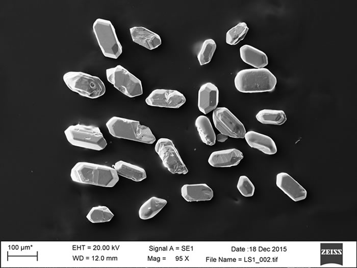 用于U-Pb法测定绝对地质年代的火山凝灰岩锆石样品