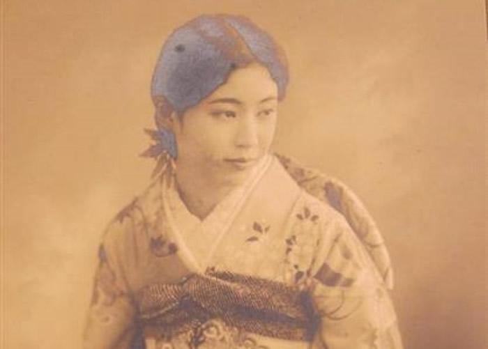 被公开的末代王妃嵯峨浩相片。