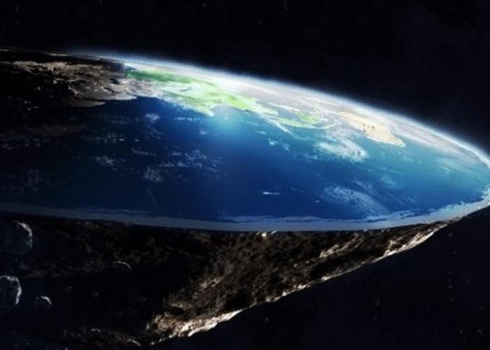 """有人认为""""地球""""实际上是一个平面。(模拟图片)"""