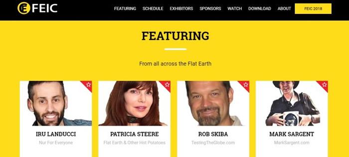 """图为""""平面地球国际研讨会""""的官方网站。"""