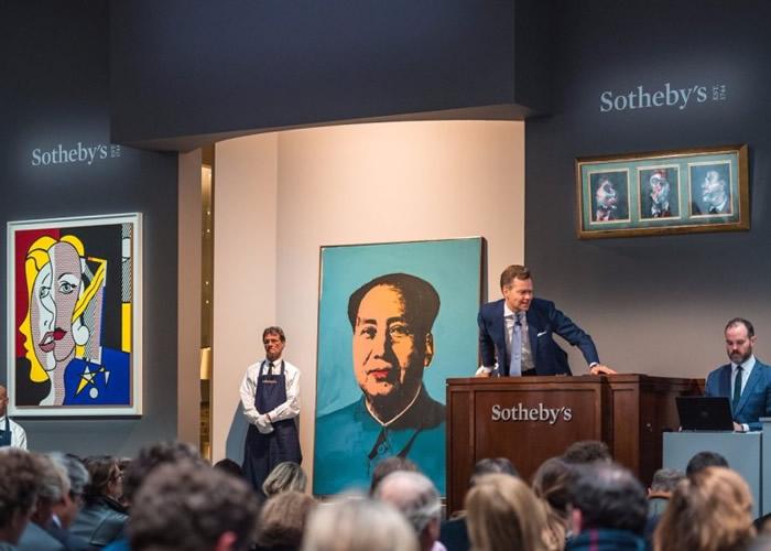 美国艺术家安迪华荷创作的《毛主席》以3240万美元高价成交