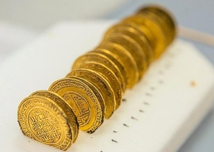 宝藏包括一批金币。