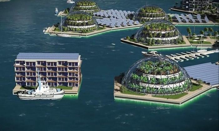 构想中的城市以大自然为主调。