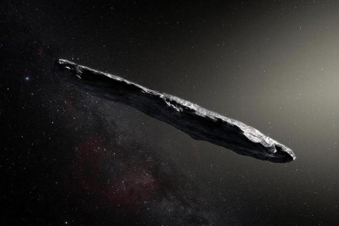 奥陌陌是第一颗被观测到造访太阳系的星际小行星,它在太空中旅行了数百万年,才有机会进入太阳系内与我们相遇。这颗小行星可能是金属或岩质的天体,形状非常细长,长约40