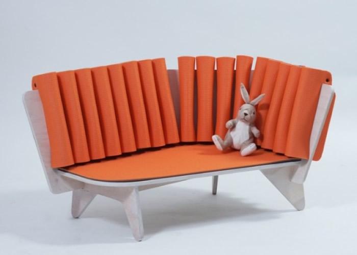 匈牙利设计大学学生设计极便宜的儿童用沙发Frizi