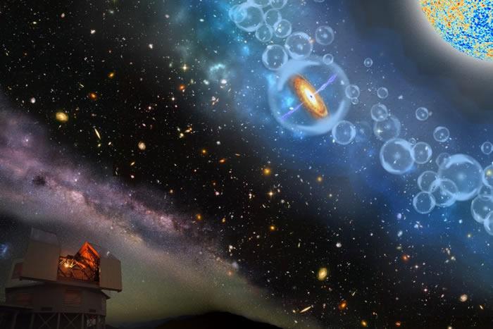 质量为太阳8亿倍的早期宇宙超重黑洞 发现迄今为止最遥远类星体