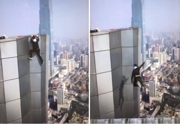 """""""中国高空极限挑战第一人""""吴永宁体力不支高楼坠亡 视频记录下生命最后一刻"""