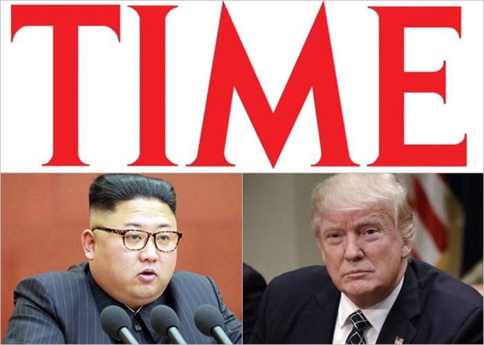 金正恩(左下)及特朗普(右下)也入选《时代》年度风云人物最后十强。