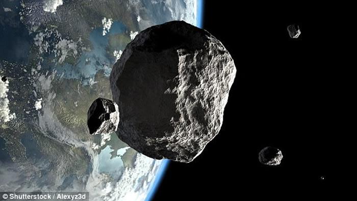 小行星掠过地球,但NASA在1日后才察觉。图为模拟图片。