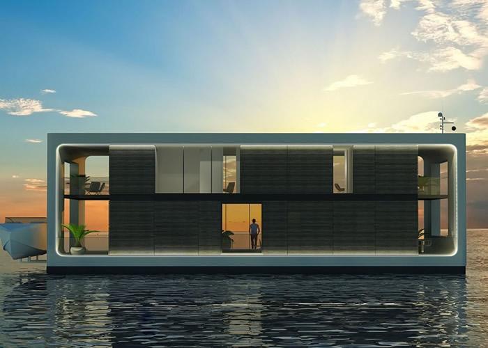 新型水上豪宅Arkup坐拥无敌海景。