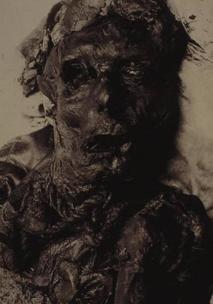资料图:1948年在丹麦沼泽发现的青铜时代女性尸体