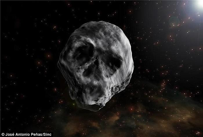 骷髅小行星2015TB145在2018年将和地球擦肩而过