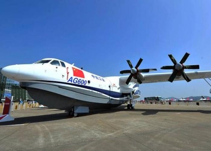 中国国产大型水陆两栖飞机AG600。