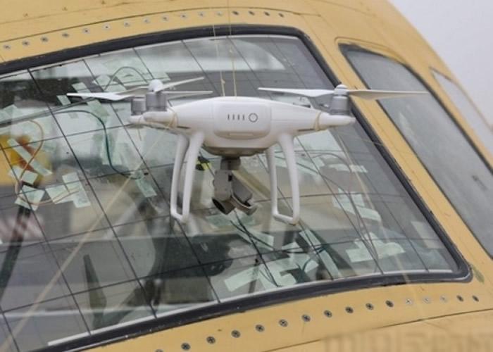 实验使用的是1.3公斤级的无人机。