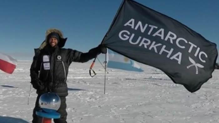 英国27岁陆军中尉Scott Sears徒步逾千公里 成为独自一人抵达南极的最年青探险家
