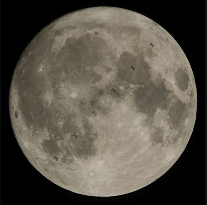 NASA公布第4名的照片,月球上过度的太空站。