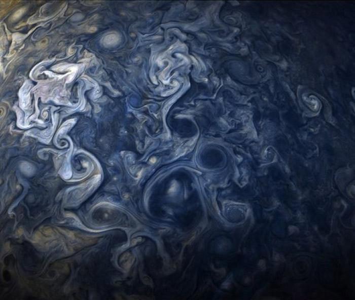 NASA公布第6名的照片,木星之蓝。