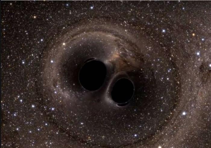 NASA公布第10名的照片,黑洞碰撞。