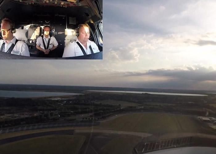 当飞机攀升时,已经可以一览机场附近的自然风光。
