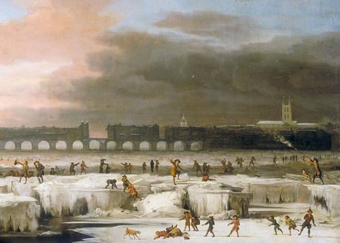 地球上次出现蒙德极小期现象时,低温令泰晤士河结冰。
