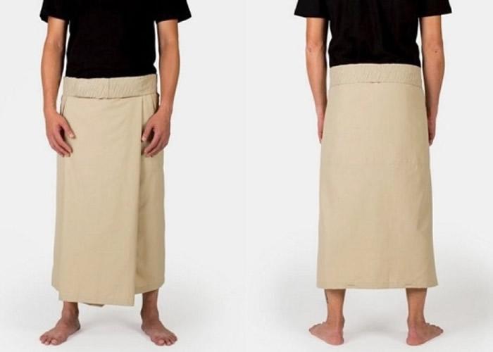 沙龙可当一般围腰布穿着。