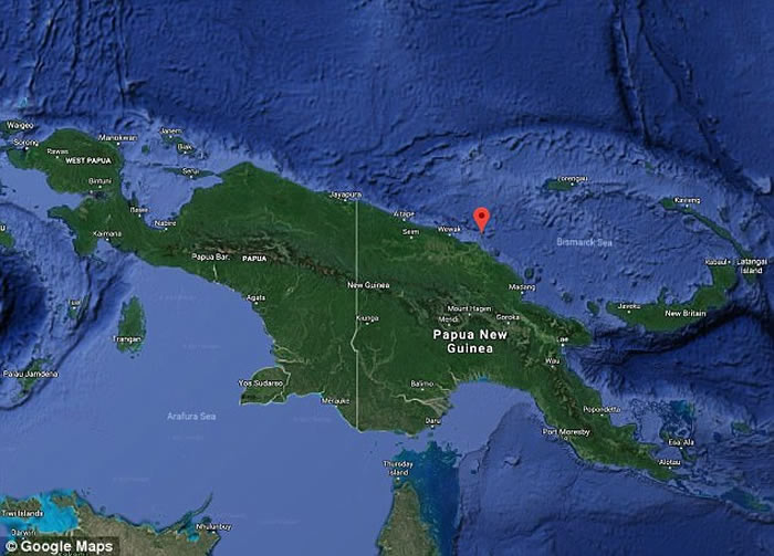 巴布亚新几内亚北面卡多瓦尔岛沉睡472年休眠火山突然爆发