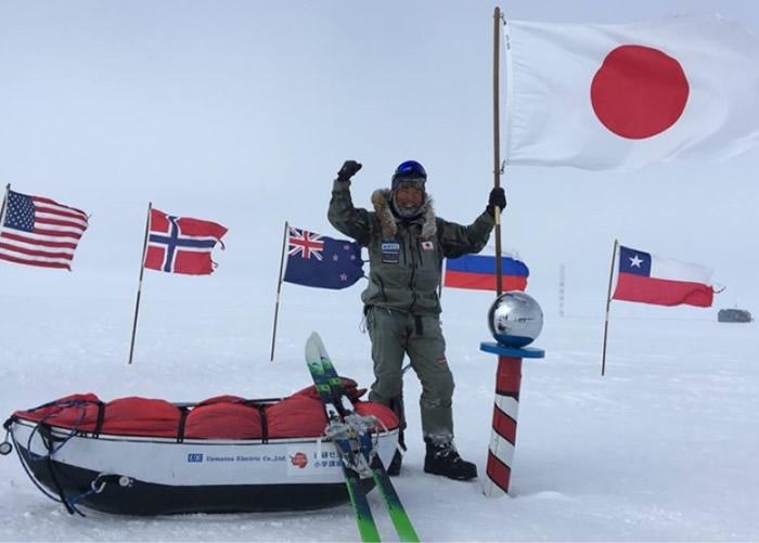 日本著名探险家荻田泰永无后勤支援成功单独徒步抵南极点