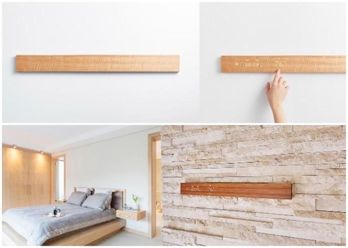 """日本Nissha公司推出外观像扁平长木的触控式电子遥控器""""Mui"""""""