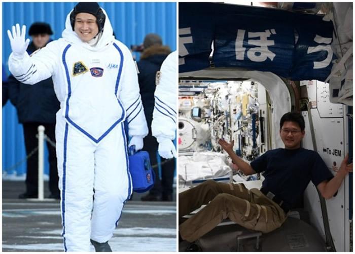 金井宣茂担心无法坐进送他们返回地球的联盟号太空舱。