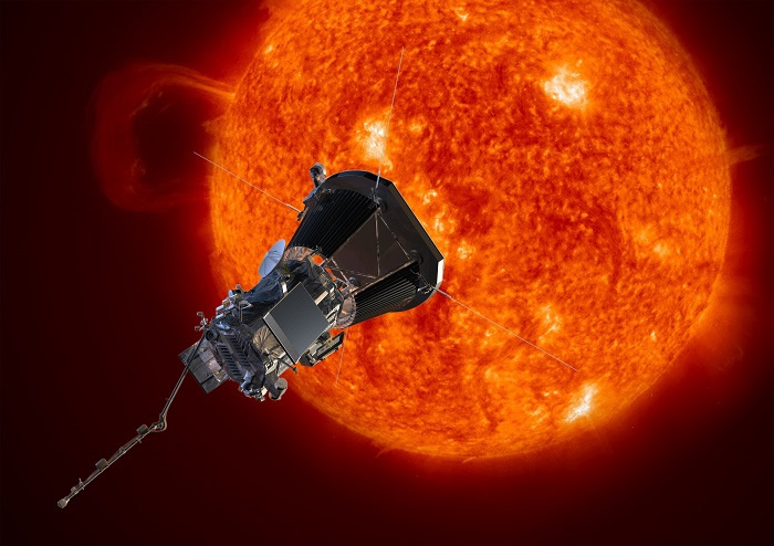 帕克太阳探测器。影像来源:NASA