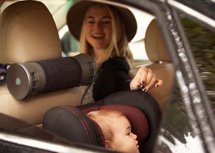 车主可把Airbubbl绑在座位后方。