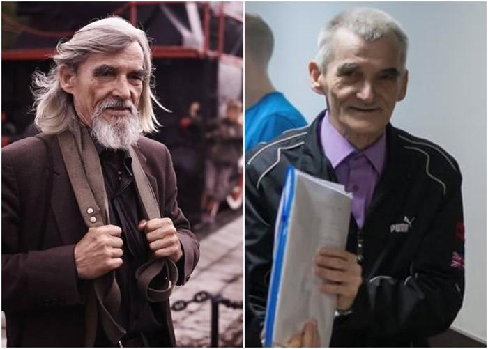 德来特里耶夫被捕前后的外表相差十分远(左图:被捕前;右图:被捕后)。