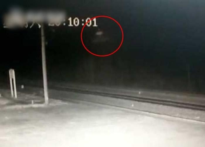 不明飞行物体出现在大扬气火车站附近。