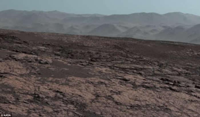 NASA首次公开好奇号在盖尔环形山拍摄的全景照 火星的冬天原来这样子