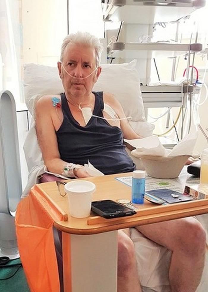 艾伦在医院躺5个月后,才有力气向恩人说声谢谢。