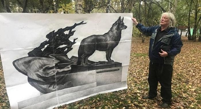 俄罗斯阿穆尔河畔共青城将竖起一座等待主人12年的忠犬雕像