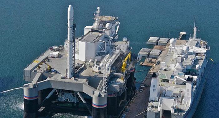 """俄罗斯S7集团打算于3年间用""""海上发射""""浮动发射平台进行12次发射"""
