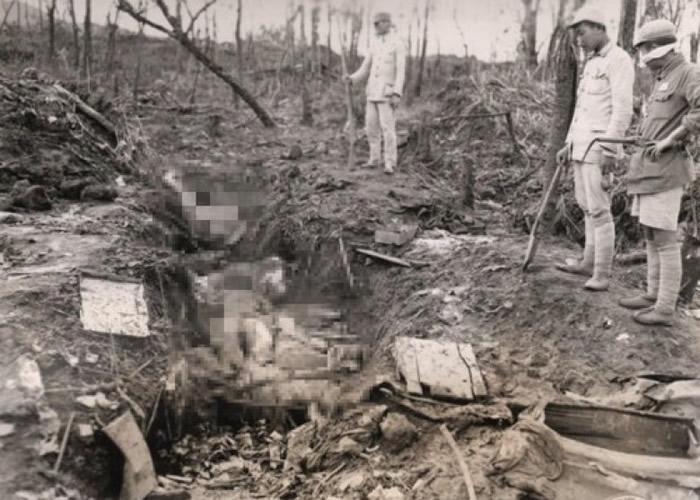 日军于1944年在中国云南屠杀多名韩籍慰安妇的黑白影片曝光