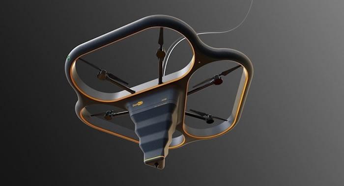 中国3D打印机制造商DediBot打造出会飞的3D建筑打印机Fly Elephant