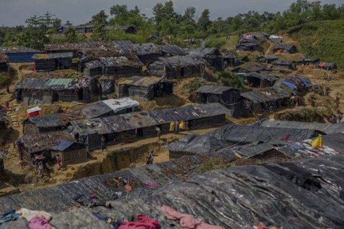 在孟加拉的罗兴亚人难民营。(资料图片)